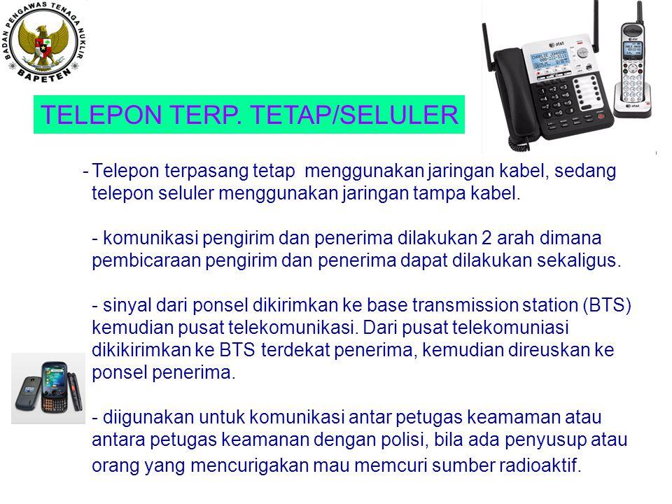 TELEPON TERP. TETAP/SELULER