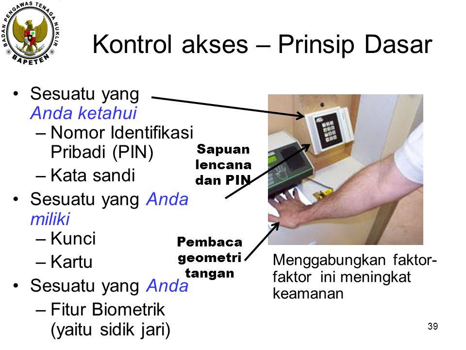 Kontrol akses – Prinsip Dasar