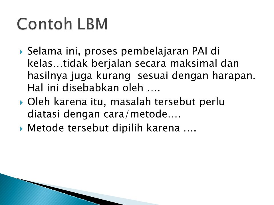 Contoh LBM