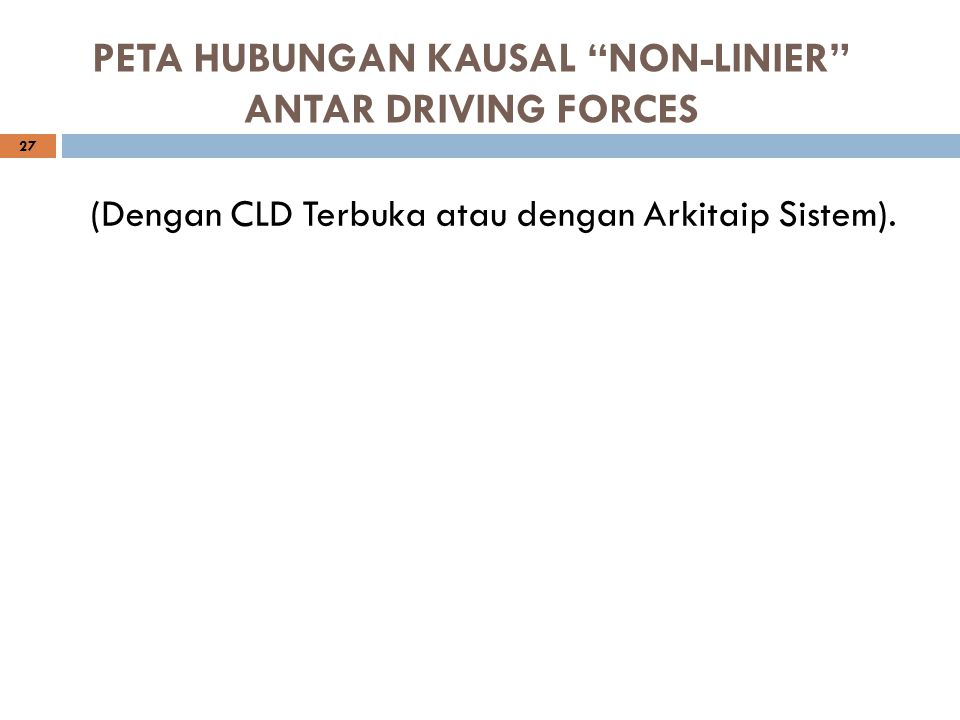 PETA HUBUNGAN KAUSAL NON-LINIER ANTAR DRIVING FORCES