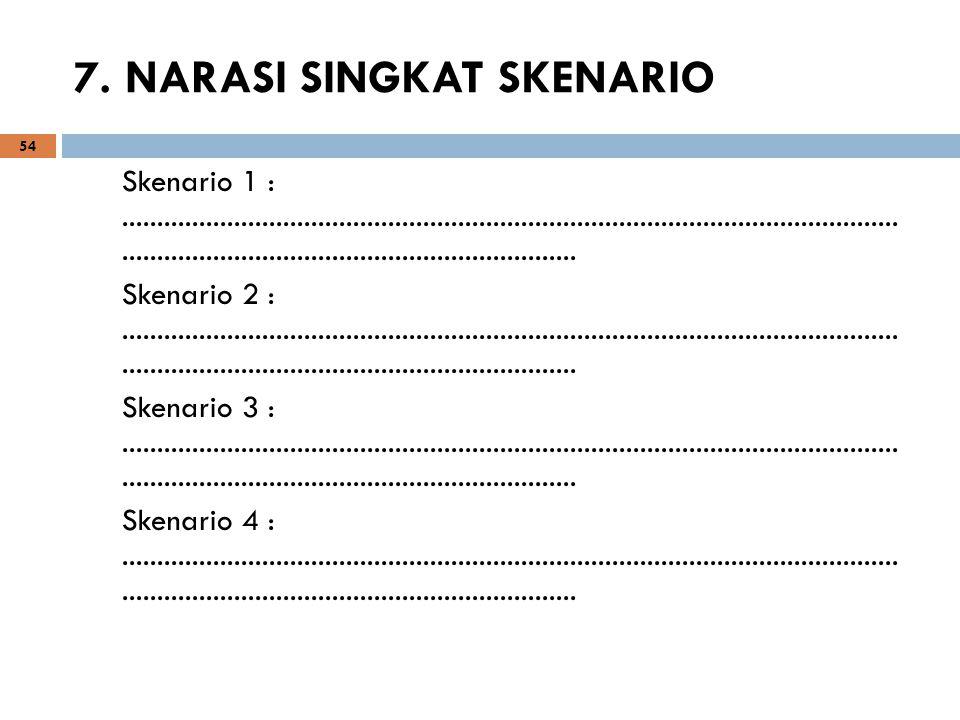 7. NARASI SINGKAT SKENARIO