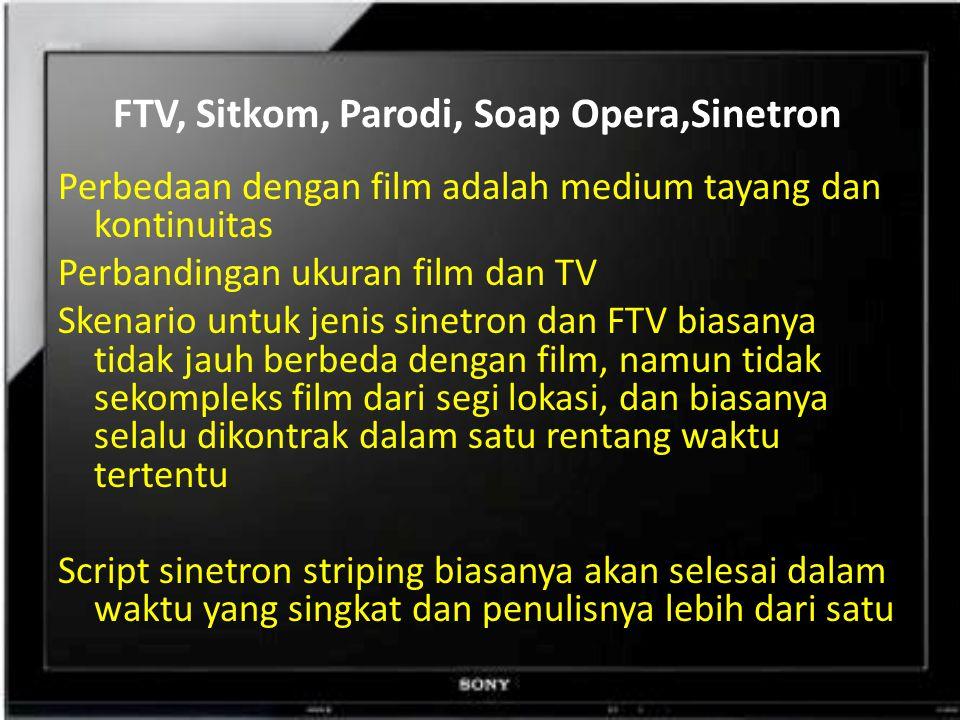 FTV, Sitkom, Parodi, Soap Opera,Sinetron