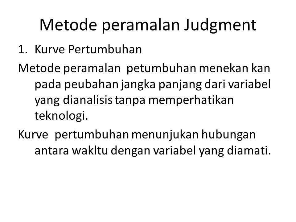 Metode peramalan Judgment