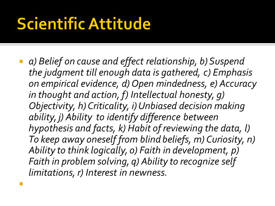 Scientific Attitude