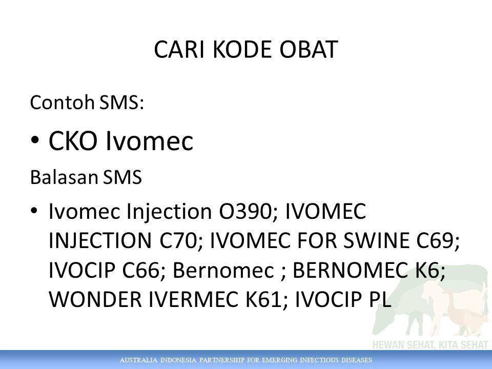 CKO Ivomec CARI KODE OBAT