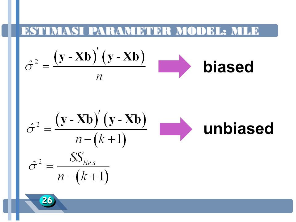 ESTIMASI PARAMETER MODEL: MLE