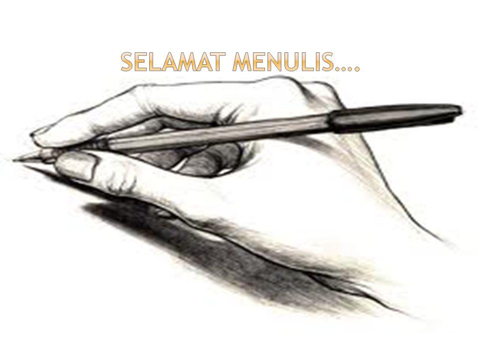 Selamat menulis….