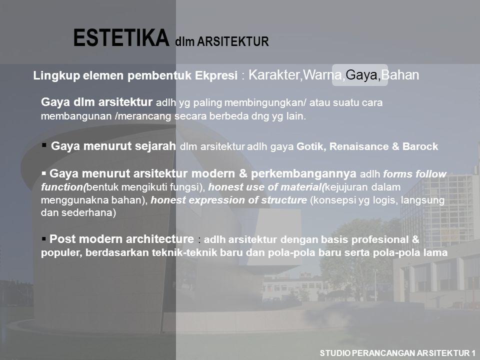 ESTETIKA dlm ARSITEKTUR