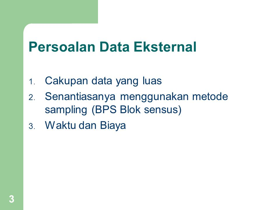 Persoalan Data Eksternal