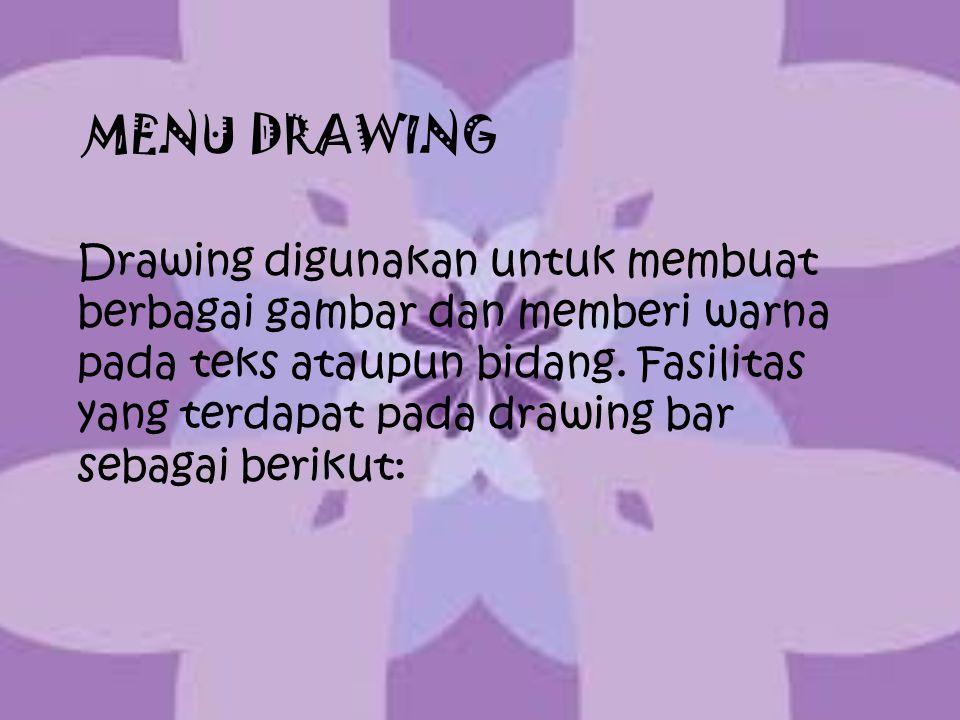 MENU DRAWING