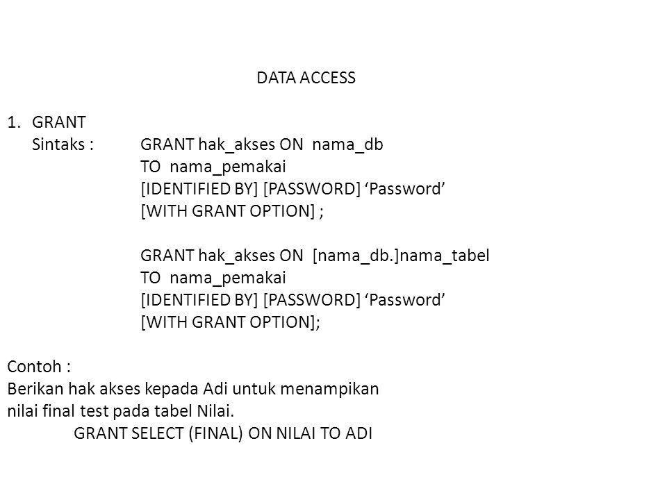 DATA ACCESS 1.