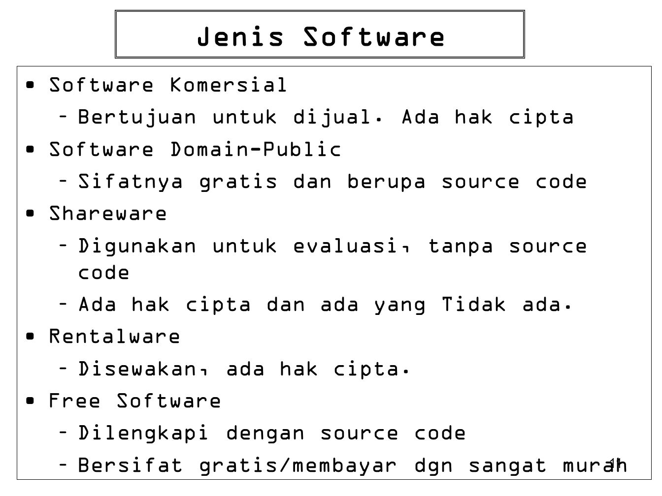 Jenis Software Software Komersial