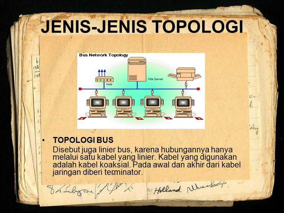 JENIS-JENIS TOPOLOGI TOPOLOGI BUS