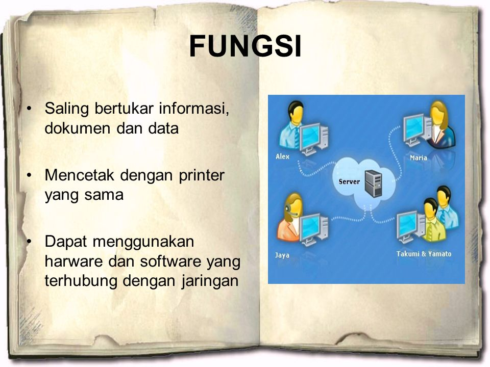 FUNGSI Saling bertukar informasi, dokumen dan data