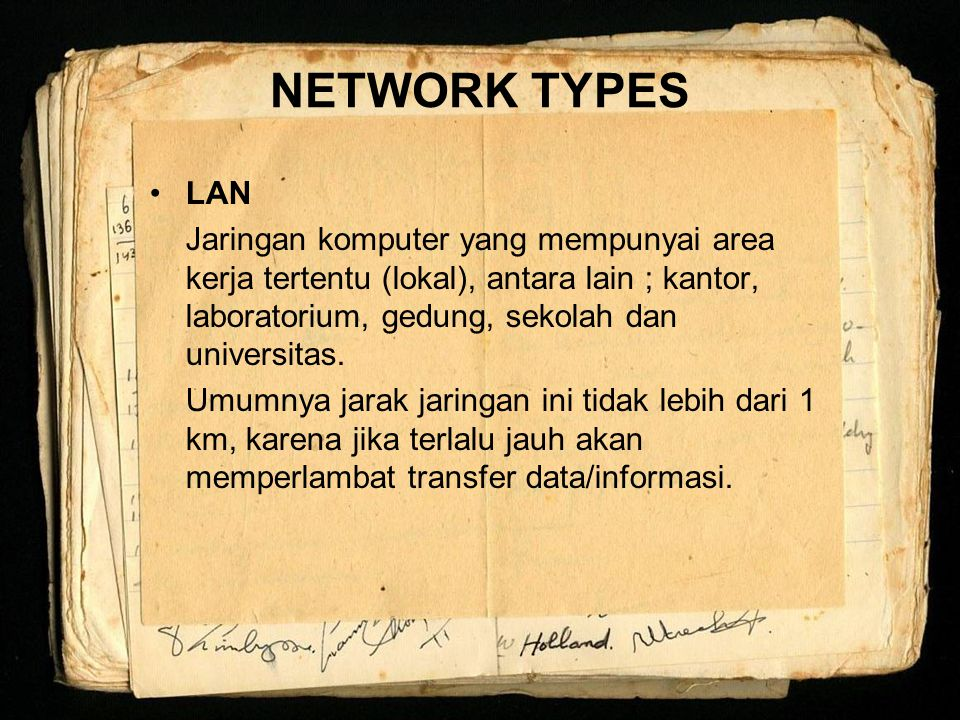 NETWORK TYPES LAN.