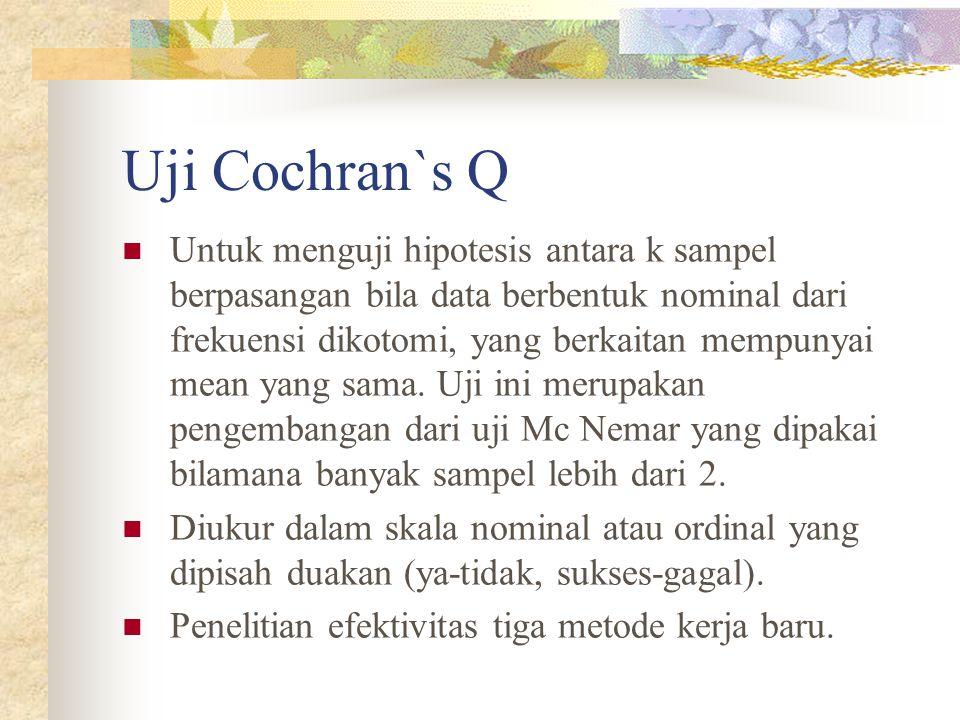 Uji Cochran`s Q
