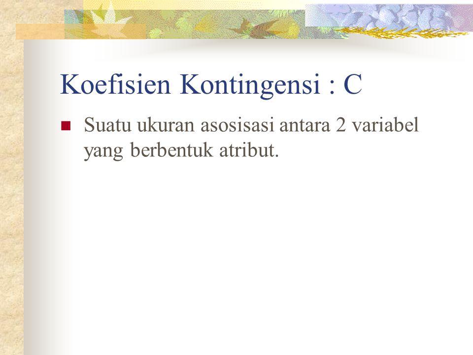 Koefisien Kontingensi : C