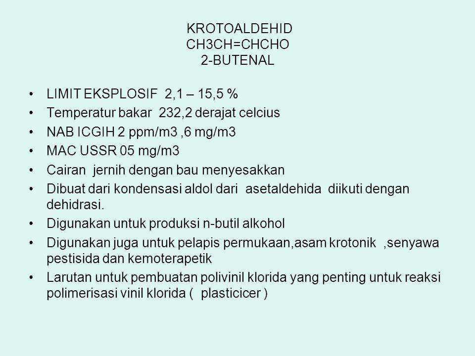 KROTOALDEHID CH3CH=CHCHO 2-BUTENAL