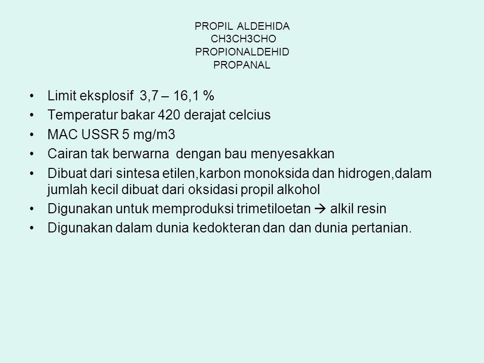 PROPIL ALDEHIDA CH3CH3CHO PROPIONALDEHID PROPANAL