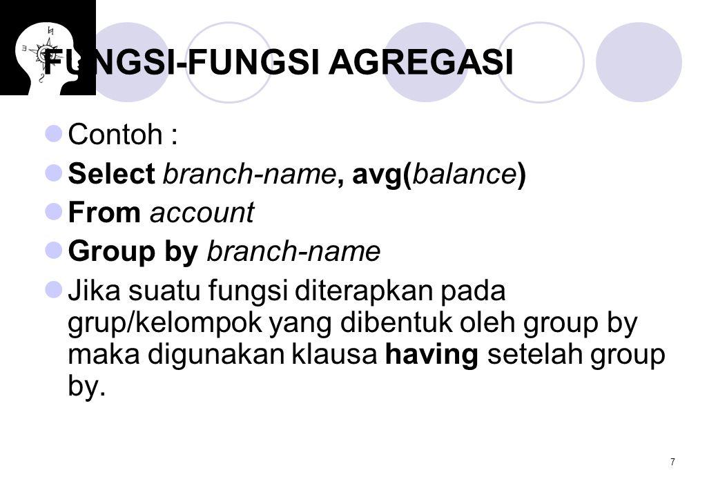 FUNGSI-FUNGSI AGREGASI
