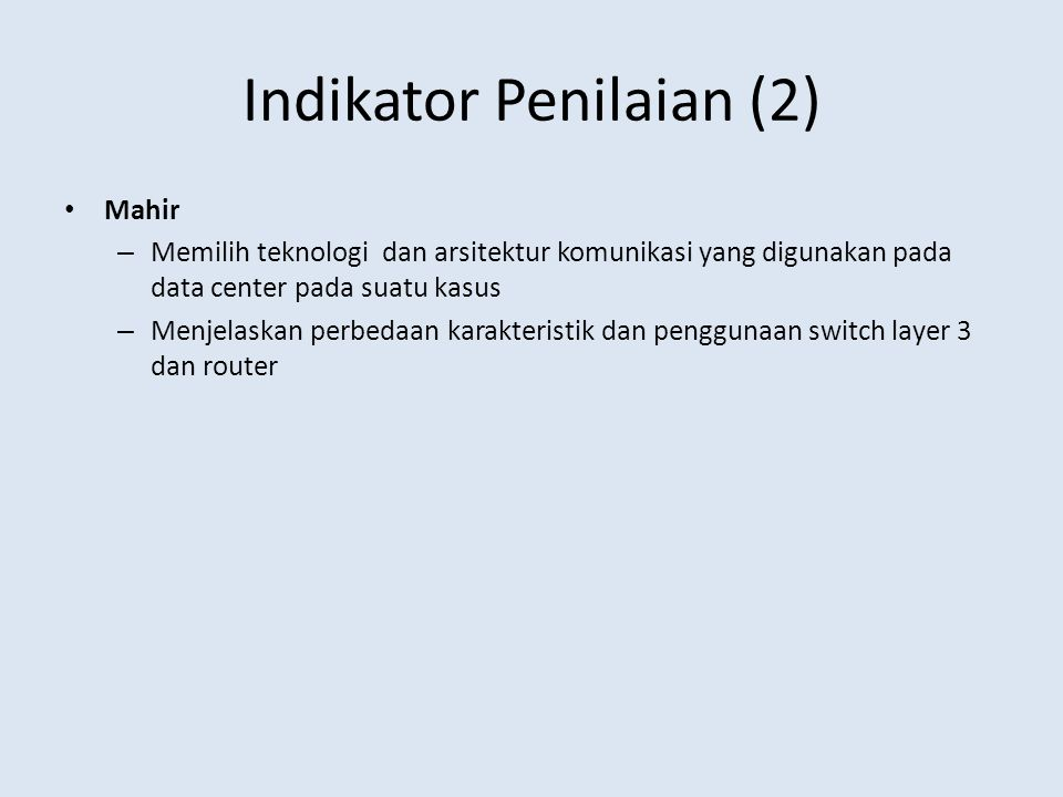 Indikator Penilaian (2)