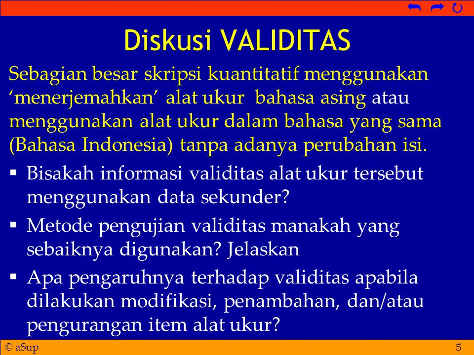 Diskusi VALIDITAS
