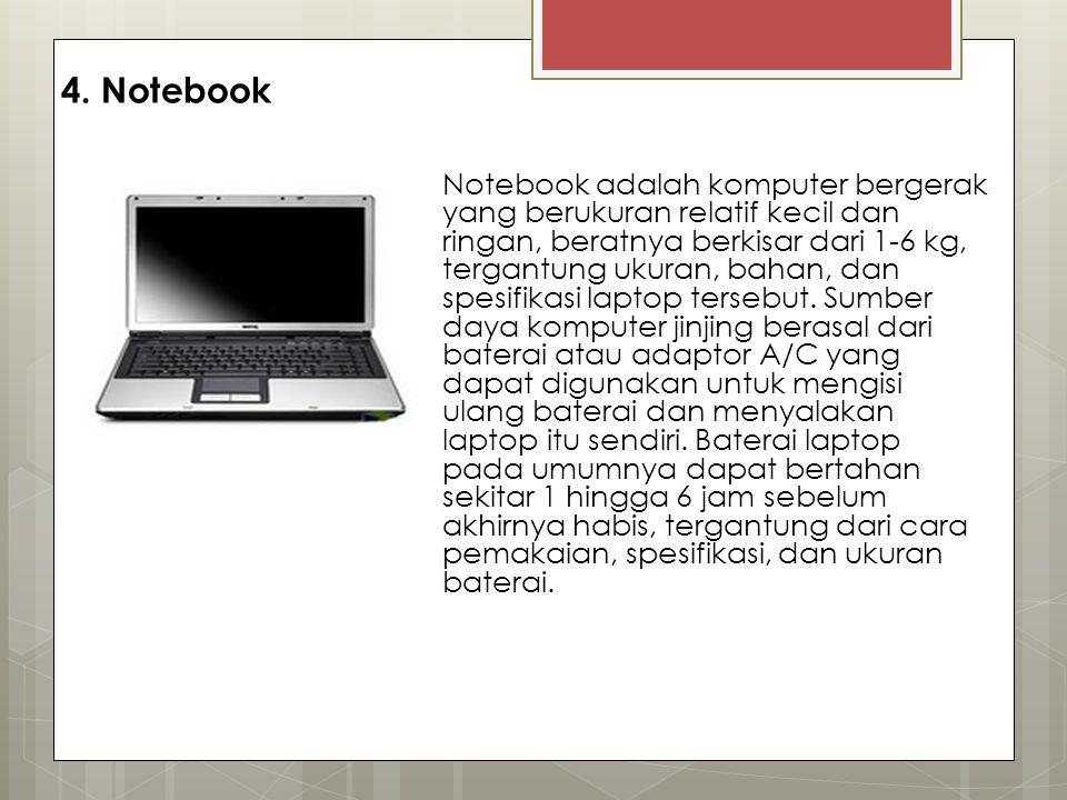 4. Notebook