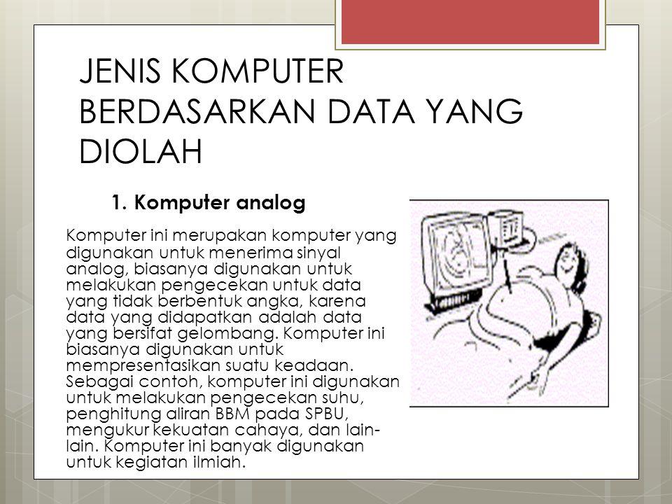 JENIS KOMPUTER BERDASARKAN DATA YANG DIOLAH