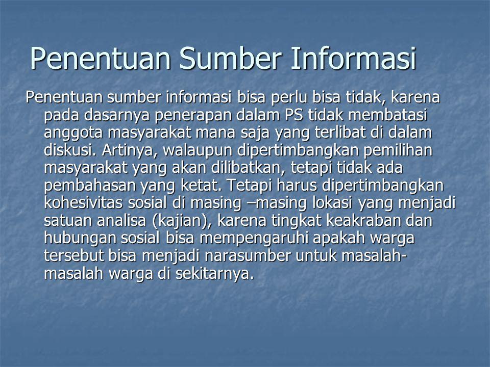 Penentuan Sumber Informasi