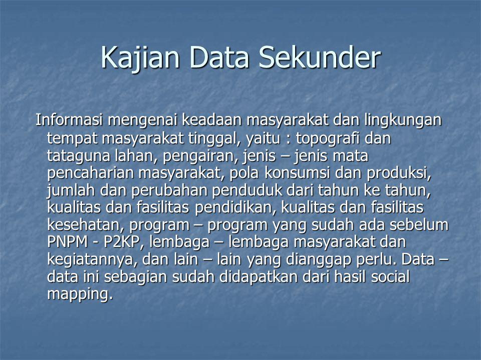 Kajian Data Sekunder