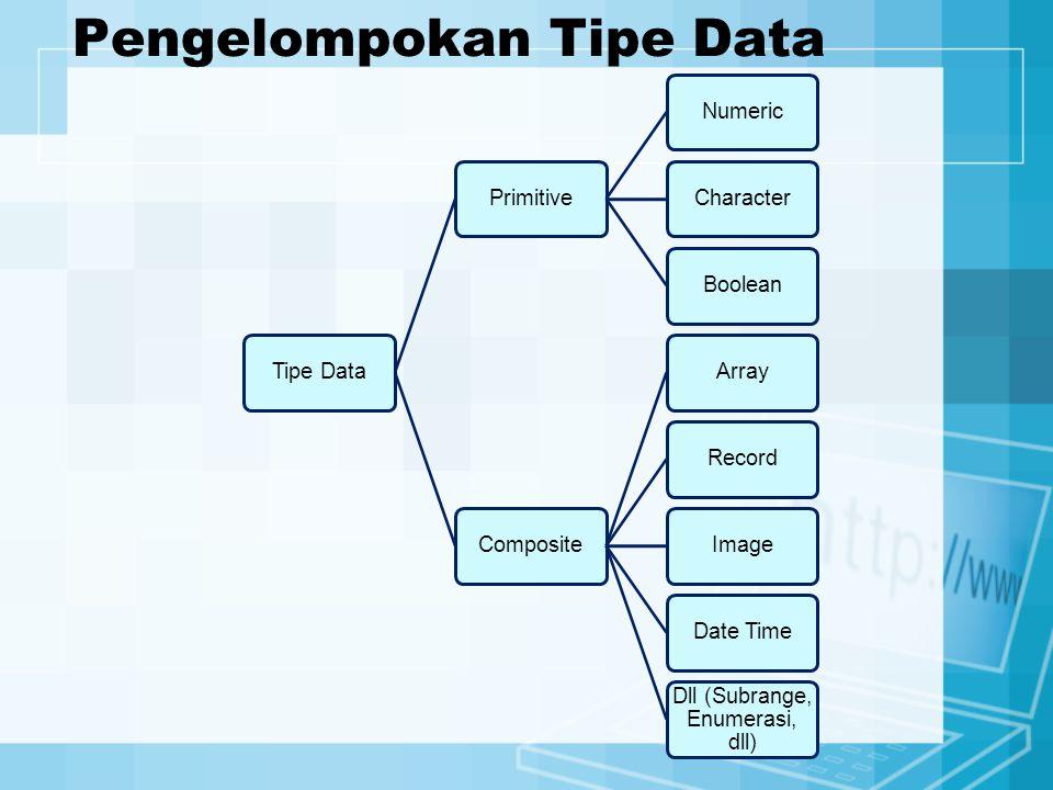 Pengelompokan Tipe Data