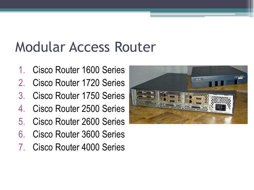 Modular Access Router Cisco Router 1600 Series