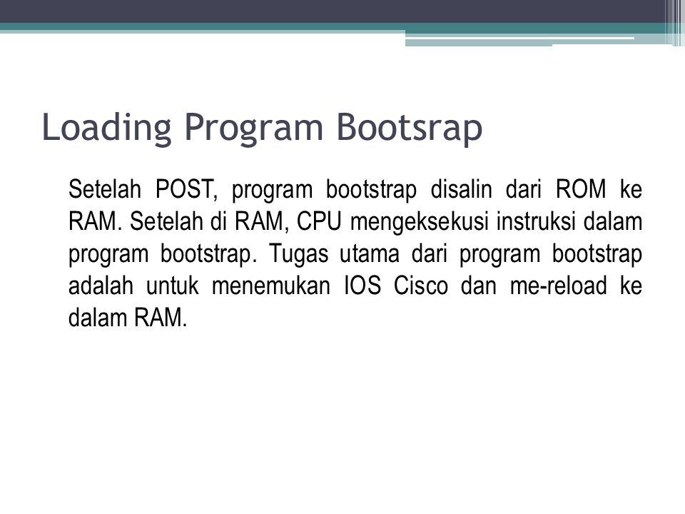 Loading Program Bootsrap