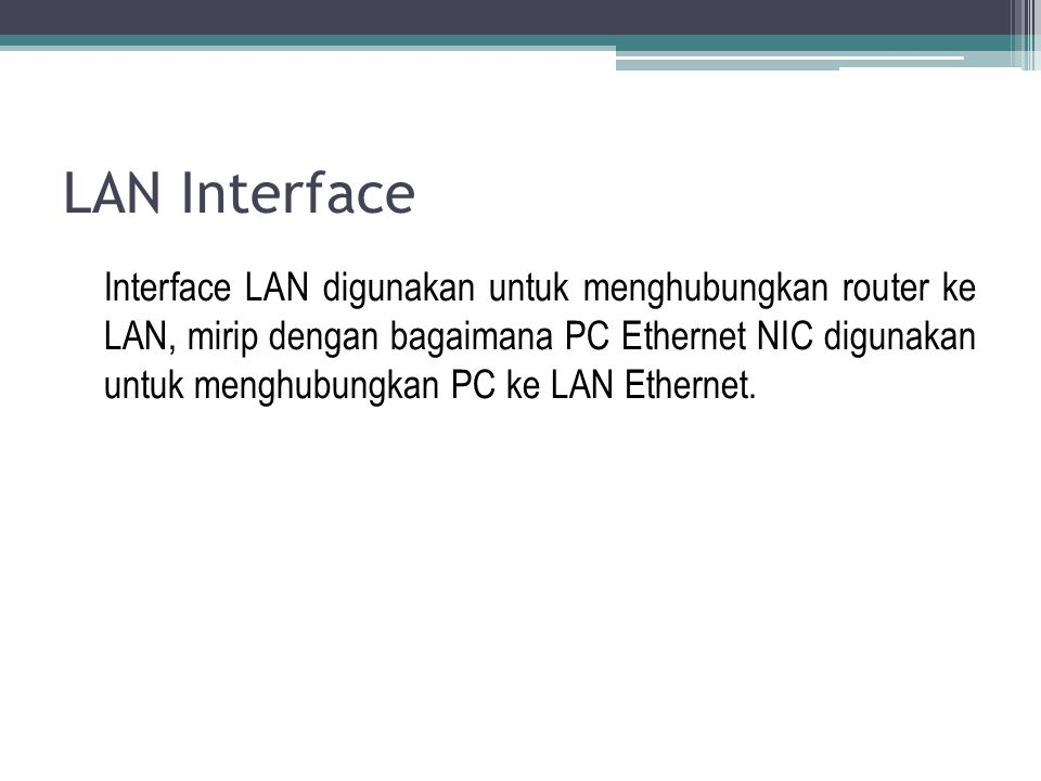 LAN Interface