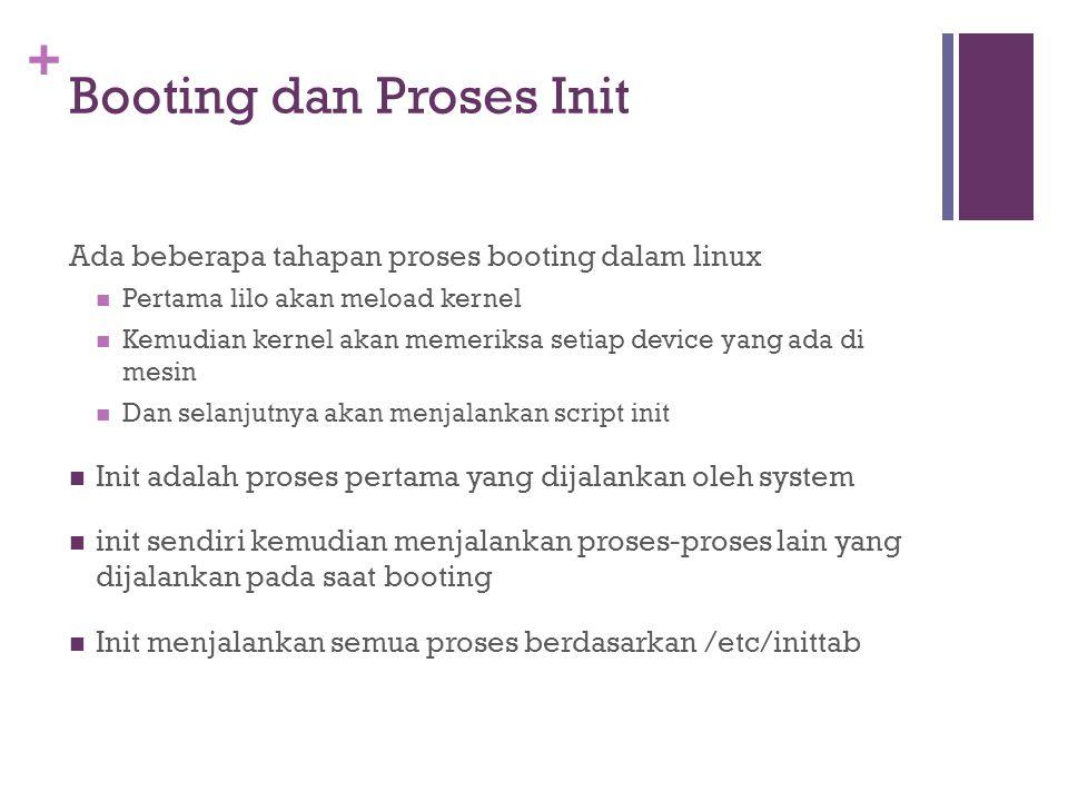 Booting dan Proses Init