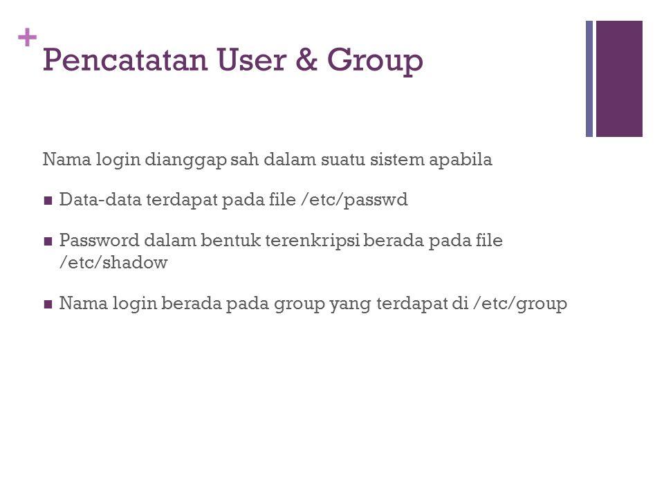 Pencatatan User & Group