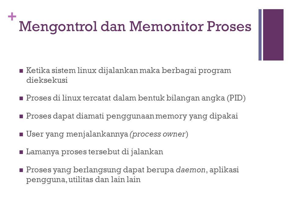 Mengontrol dan Memonitor Proses