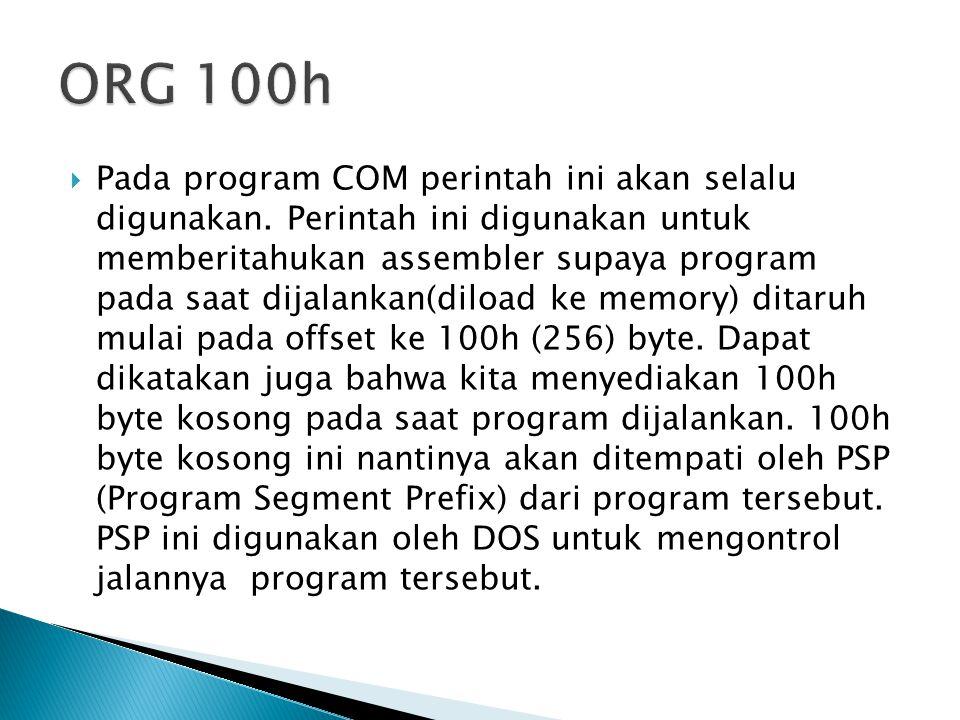 ORG 100h