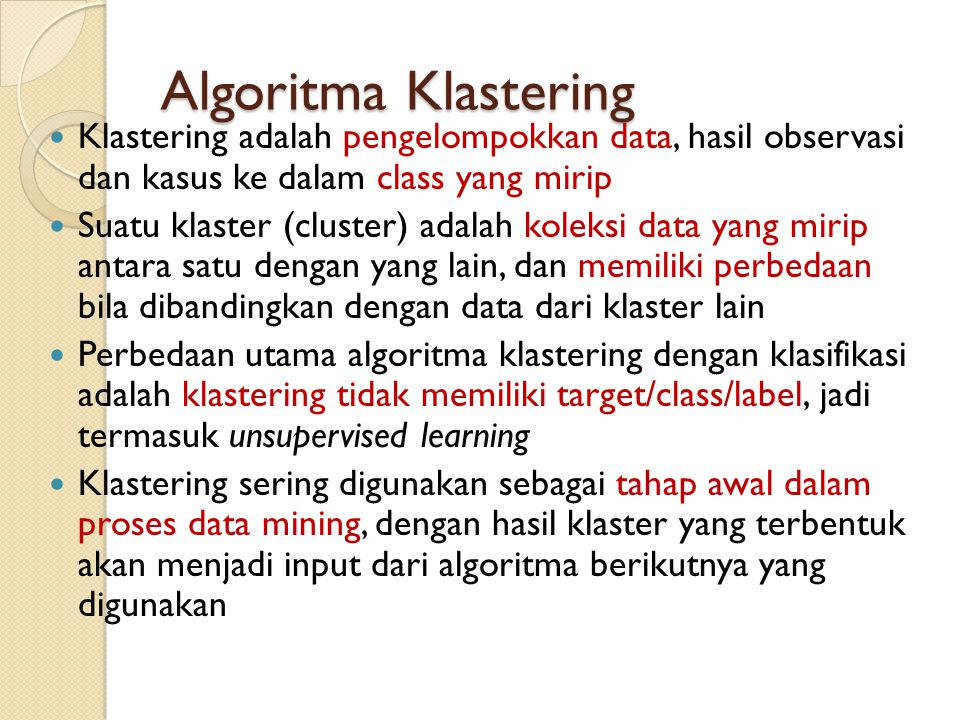 romi@romisatriawahono.net Object-Oriented Programming. Algoritma Klastering.