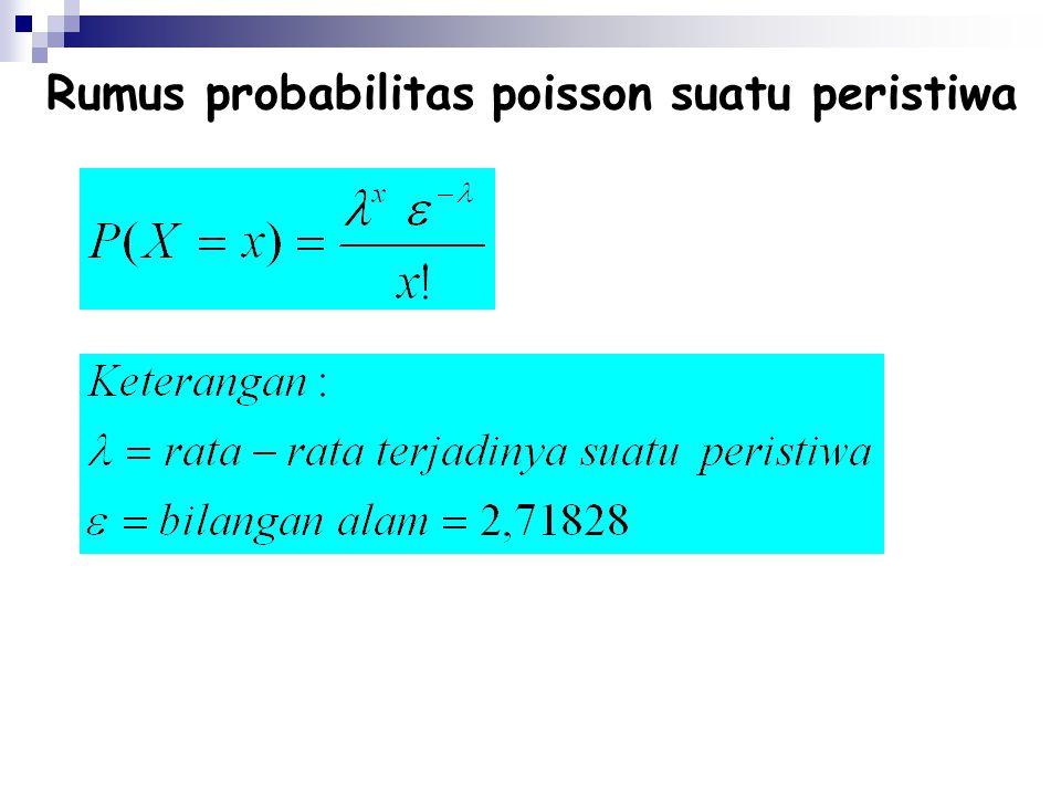 Rumus probabilitas poisson suatu peristiwa