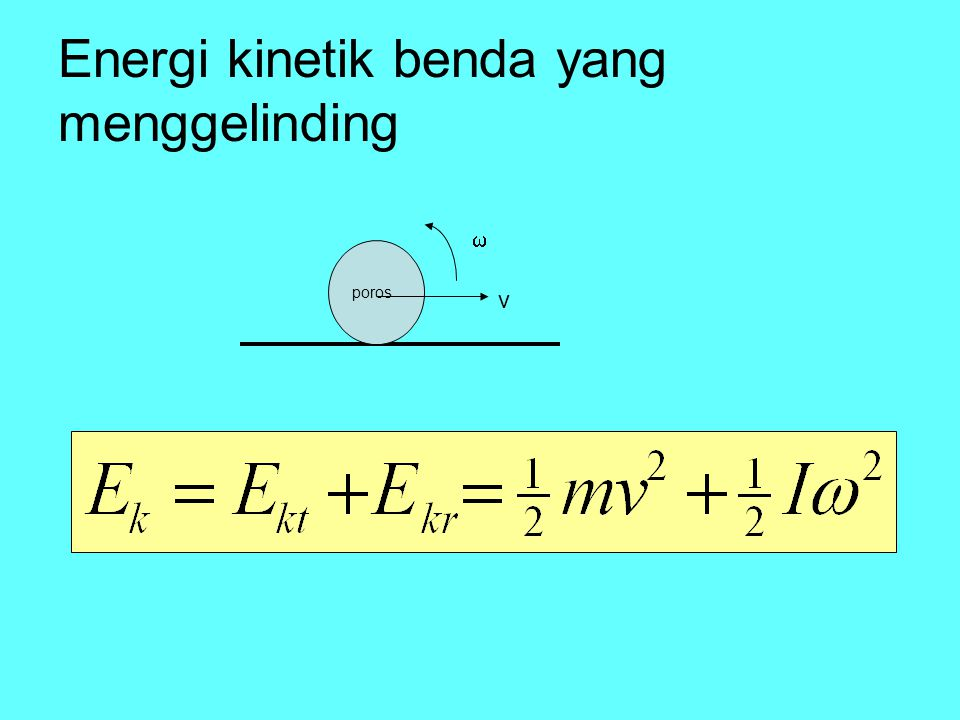 Energi kinetik benda yang menggelinding