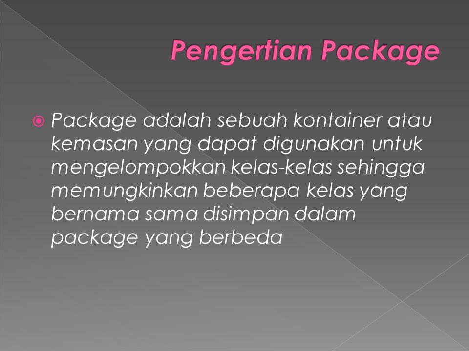 Pengertian Package