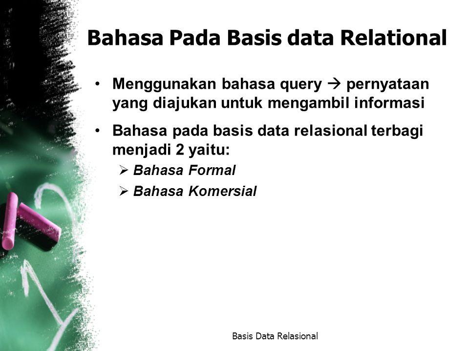 Bahasa Pada Basis data Relational