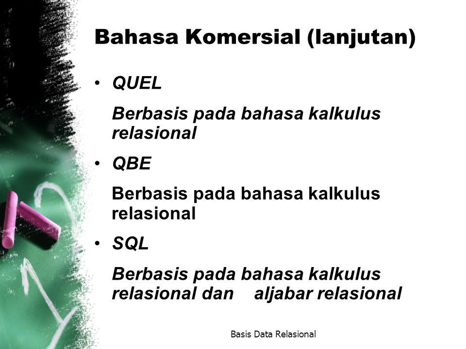 Bahasa Komersial (lanjutan)