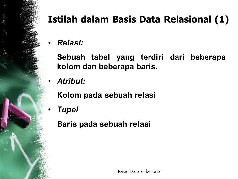 Istilah dalam Basis Data Relasional (1)