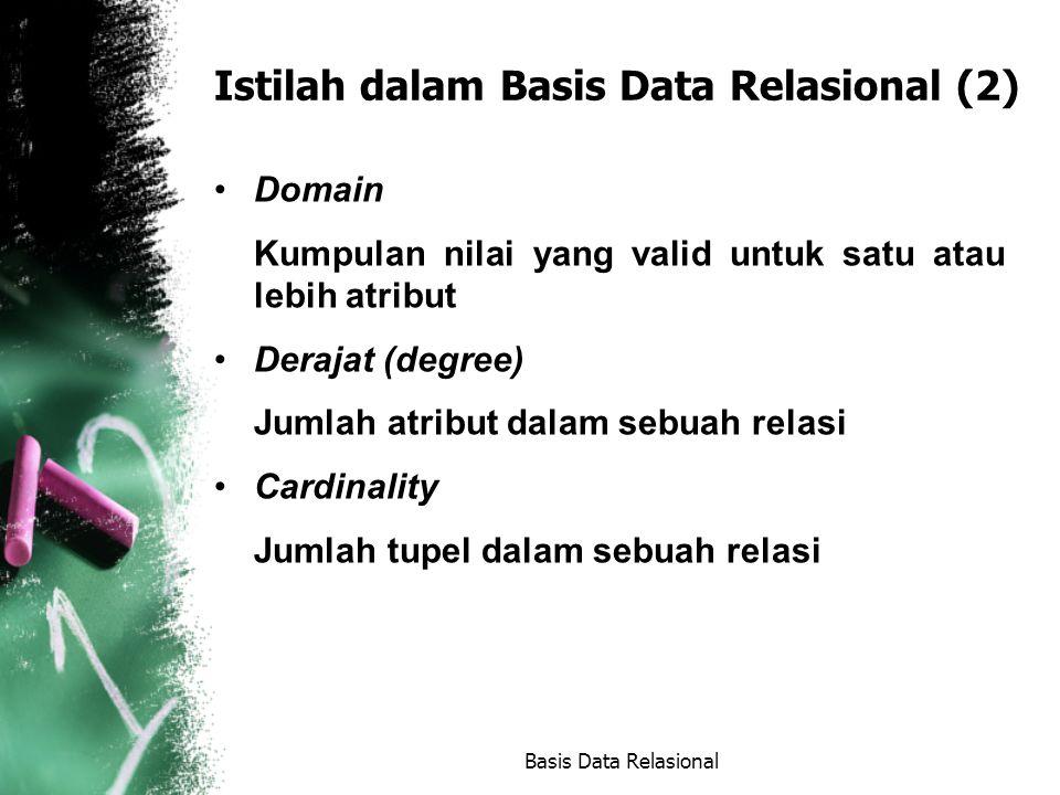 Istilah dalam Basis Data Relasional (2)