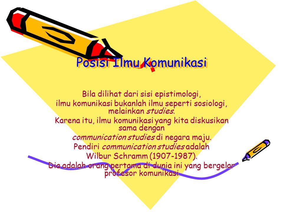 Posisi Ilmu Komunikasi