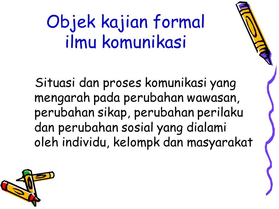 Objek kajian formal ilmu komunikasi