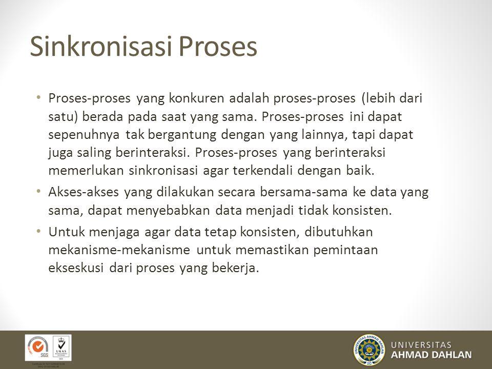 Sinkronisasi Proses