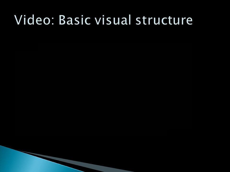 Video: Basic visual structure